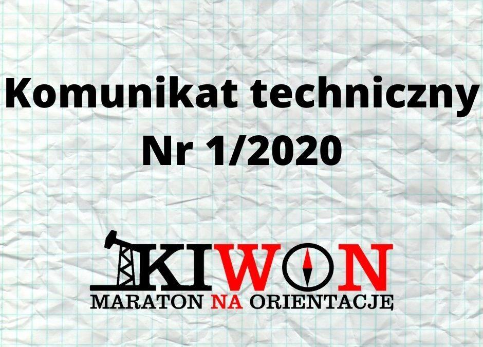 Komunikat techniczny Nr 1/2020